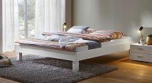 Designerbett Sierra, 200x200 cm, weiß