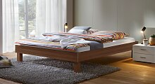 Designerbett Sierra, 90x200 cm, Nussbaum natur