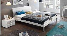 Designerbett Trentino, 200x200 cm, weiß