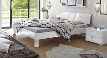 Designerbett Wayne, 140x200 cm, weiß