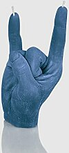 Designerkerze ROCK'N'ROLL 21cmx9cm Kerze als Geschenkidee Tischdeko in blau