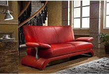 Designersofa Leder-Sofa-3 Sitzer Designercouch Designsofa 5005-3-R sofor