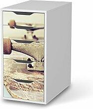 Designfolie für IKEA Alex Schreibtisch-5 Schubladen | Möbelfolie Klebefolie Sticker Aufkleber Möbel verschönern | Wohnen & Dekorieren Schlafzimmer-Dekoration DIY | Design Motiv Skateboard