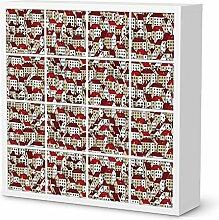Designfolie für IKEA Kallax Regal 16 Türelemente | Möbelsticker Bedruckte Klebe-Folie Möbel dekorieren | Wohnen & Dekorieren Wohnzimmer Deko Bilder | Design Motiv City By Day