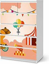 Designfolie Kindermöbel für IKEA Malm 6 Schubladen (hoch)   Möbel-Sticker Folie Klebefolie   Wohnideen IKEA Möbelfolie Kinder-Zimmer Wohnaccessoires   Kids Kinder Bärenstark