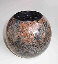 designgrab Kugel Kugelvase Grabvase aus Granit