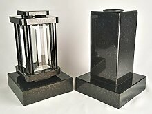 designgrab Modern Grablampe mit Cube-medium Vase