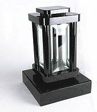 designgrab Modern Grablampe mit Sockel aus Granit