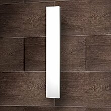 Designheizkörper Mittelanschluss Milano, 180x45 cm, 805 Watt, alpin-weiß, Wohnraum-Heizkörper vom Renovierungsprofi