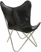 Designklassiker Lounge Sessel BUTTERFLY Echtleder
