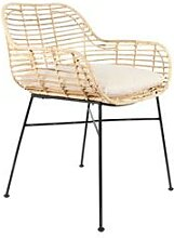 designline Rattan-Stuhl Tiger mit Armlehne inkl.