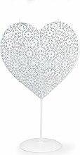 Designmetal Ornament Herz auf Ständer mit Teelichteinsatz, 6,95 € Metall , weiß ca. D:18cm/H:30cm
