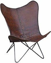 Designsessel Butterfly Sessel Stuhl Lounge Ledersessel Rindsleder Retrosessel