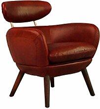 Designsessel Swinford Vintage Leder Royal Rouge Echtleder Sessel ro