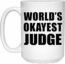 designsify World 's Okayest Judge – 15 Oz