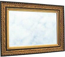 Designspiegel Barock Wand Spiegel Kristallglas gold rot schwarz Prunk Stil 60x90