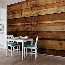 Designtapete Vliestapete Woody Birdseye Holz