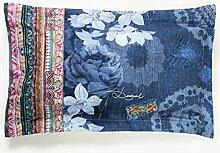 Desigual Pillow _ Exotic Jeans 50* 80Kopfkissen Rechteckig Kunstfaser Jeans Blau 50x 80cm