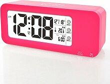 Desk decoration Usb-Ladekabel touch Alarm faule Menschen glow-in-the-mute Tag Wecker, der Leiter der Magenta