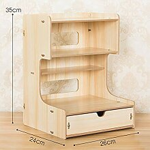 Desktop-Aufbewahrungsbox Bürobedarf Holz