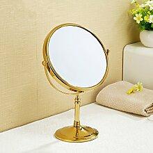 Desktop doppelseitige Make-up-Spiegel Kosmetikspiegel Schminktisch Spiegel Kosmetikspiegel 8 Zoll