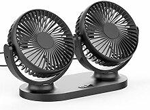 Desktop-Fan, 5V 2A USB-Ventilator, 360 ° drehbar