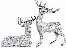 Desktop Home Dekorationen, Hirsch Skulptur Harz