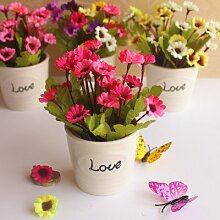 Desktop kleine Topfpflanzen emulation Blume Kunststoff eingerichtet Hochzeit Geschenke Regal, Rosa liebe Cup Ju Ro