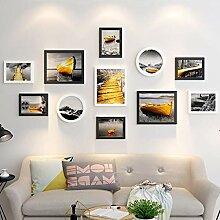 Desktop oder Wandbehang Fotowand, Holz Collage