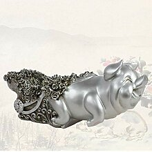 Desktop-Skulptur Retro Weiche Ornamente Schwein