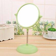 Desktop Spiegel doppelseitige Kosmetikspiegel 30,5 * 15,5 cm, grün