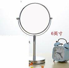 Desktop-Spiegel Europäische Spiegel Zweiseitige Kosmetikspiegel [Verheiratet Princess Spiegel] Portable portable Vergrößerungsglas Schönheit-E
