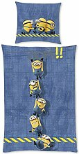 Despicable Me Bettwäsche Minions Oops!! - blau,