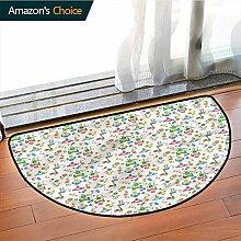 DESPKONMATS Baby Polyester halbrund Teppich für