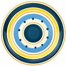 Dessertteller Cefalu - Blau, Orange & Gelb im