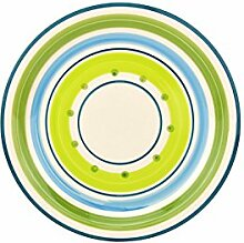 Dessertteller Cefalu - Grün & Blau im