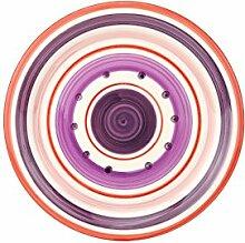 Dessertteller Cefalu - Rot, Violett & Rosa im