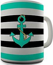 Dessin Geschenktasse Kaffeebecher Seefahrer Anker in Form eines Tee Tasse aus Keramik