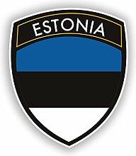 DestinationVinyl #10416 Vinyl-Aufkleber Estland,