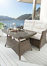 Destiny Gartentisch Loungetisch Casa Vintage Braun