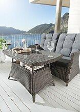 Destiny Gartentisch Loungetisch Casa Vintage Grau