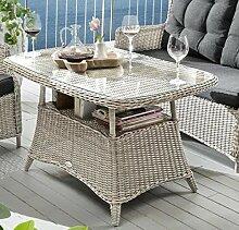 Destiny Gartentisch Loungetisch Casa Vintage Weiß