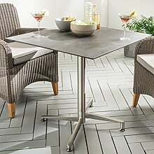 Destiny Tisch Loft Gartentisch 80 x 80 Edelstahl