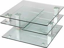 Destock Meubles Couchtisch quadratisch aus Glas