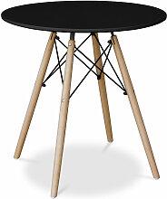 Deswick Esstisch 70cm - Holz Schwarz