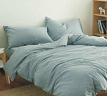 DESY 100% Baumwolle Bettwäsche Abdeckungen, 4 Stück Baumwolle reine Farbe einfache Bettwäsche, Baumwolle Steppdecke Haushalt , 3 , queen