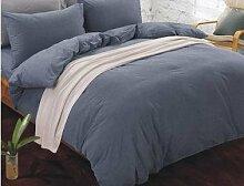 DESY 100% Baumwolle Bettwäsche Abdeckungen, 4 Stück Baumwolle reine Farbe einfache Bettwäsche, Baumwolle Steppdecke Haushalt , 2 , queen