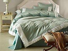 DESY Amerikanische einfache Bettwäsche, Seide vierteilige, im europäischen Stil Baumwolle Bett Bettwäsche Bettwäsche , 1 , king