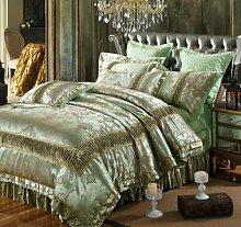 DESY Baumwolle 4pcs, Hochzeit Sets von Textilien, bequeme Baumwoll-Sets von zu Hause, Bettwäsche deckt , 2 , queen