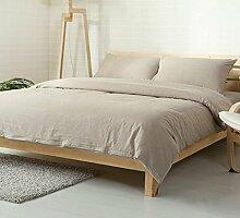 DESY Baumwolle und Leinen Bettwäsche Baumwolle vier - teilig, Heimtextilien Bettwäsche, weiche Bettwäsche Abdeckungen , queen